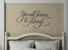 ALWAYS AND FOREVER Fancy Couple Husband Wife Vinyl Wall Decal Lettering Words in Home & Garden, Home Décor, Decals, Stickers & Vinyl Art | eBay