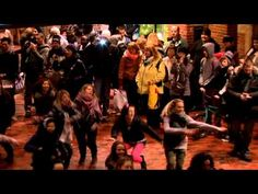 This is a Dance Mob in Copenhagen. This is the #1 [official video] from Copenhagen Central Station Dec. 2010.