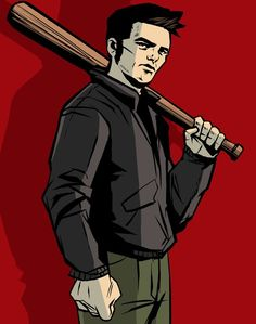 This is another art piece for a GTA 3 character, Claude Speed. unlike the other pieces, this work shows less detail but also this art style could be interesting to use.
