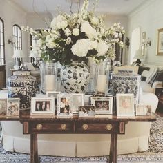 side table / styling / vignette / glam / picture display / white flower boquet…  side table / styling / vignette / glam / picture display / white flower boquet  http://www.coolhomedecordesigns.us/2017/06/06/side-table-styling-vignette-glam-picture-display-white-flower-boquet/