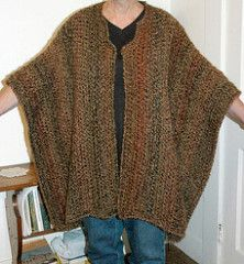 Even a beginner can crochet this dramatic wrap that can be worn either as a stole or an open poncho. (Lion Brand)