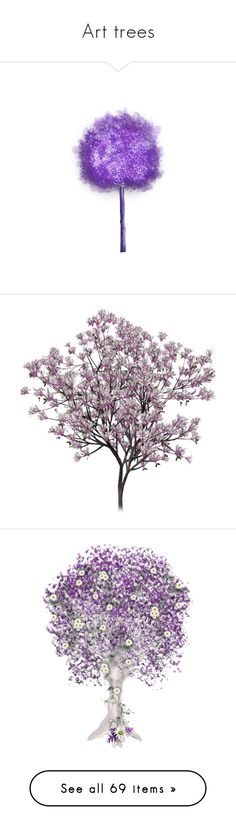 """Art trees"" by leaff88 ❤ liked on Polyvore featuring tree, flowers, purple, trees, fillers, garden, nature, plants, backgrounds and filler"