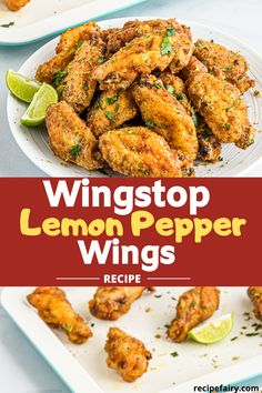 Enjoy Wingstop and love their lemon pepper wings? Then we've got a great recipe for you. This Wingstop lemon pepper wings recipe is a copycat of the real version. You can create this from the comfort of your home. Wingstop Lemon Pepper Wings Recipe, Lemon Chicken Wings Recipe, Lemon Peper Wings, Baked Lemon Pepper Wings, Fried Wings Recipe, Lemon Pepper Wing Sauce Recipe, Healthy Wings Recipe, Fried Chicken Wings, Teriyaki Chicken Wings