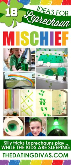 Over 85 adorably fun Leprechaun ideas for kids : Tricks and Mischief Saint Patrick's day is really a religious feast … San Patrick, Holiday Crafts, Holiday Fun, Holiday Ideas, Christmas Parties, Pranks For Kids, Leprechaun Trap, St Patricks Day Crafts For Kids, St. Patricks Day