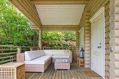 Patio and Outdoor Living Space Design Ideas Outdoor Rooms, Outdoor Living, Outdoor Furniture Sets, Outdoor Decor, Furniture Ideas, Outdoor Fire, House Front Porch, Front Porch Design, Patio Plans