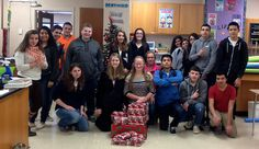"""The Plymouth High School SEED (Students Engaged in Environmental Development), Club adopted a Plymouth family for Christmas through the Marshall County Neighborhood Center! This is the second year of the SEED Club Program """"Give Back for Christmas."""" They just delivered food and gifts to their adopted family in Plymouth! #PlymouthIndiana #PCSCweCare"""