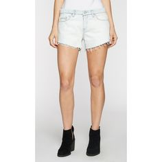 Blank Nyc Hi Low Short ($78) ❤ liked on Polyvore featuring shorts, all about me, frayed shorts, zipper shorts, short shorts and blanknyc