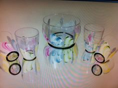 Petale hand painted glassware by Tatch