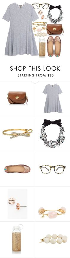 """""""These Tieks are sooo pretty """" by sheyannereed ❤ liked on Polyvore featuring Tory Burch, Olive + Oak, Kate Spade, J.Crew, Tieks, Warby Parker, Bourbon and Boweties, Moschino Cheap & Chic, women's clothing and women"""