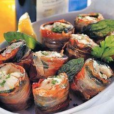 Rotolini di anguilla e pancetta alla salvia. Condivisa da: http://lacucinadisusana.blogspot.com.ar/