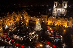 Christmas Market in Prague #prague, #czech republic, #longexposure, #night