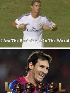 Haha it's just a joke. Respects to Ronaldo