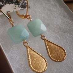 pale amazonite and bold gold