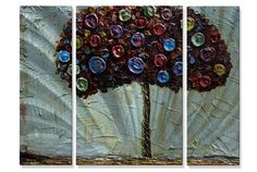 Tree Of Many Colors Metal Wall Art Hanging