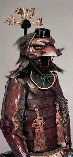 Japanese tengu armor. A tengu is a raven spirit.