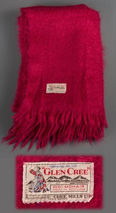 Glen Cree Fushia Blanket, 100% Scottish Mohair, 4ft x 6ft.  Charity Shop find $7.