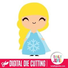 Cute Frozen Princess Elsa  - Use this cute frozen princess elsa in your party or craft project. Digital die cutting files are designed specifically with cutting machines in mind. Use them with programs such as your Silhouette, Cricut (SCAL/MTC), Pazzles, Klick-n-Kut, Wishblade or any cutting machine that can use the following file formats: SVG, PDF, and DXF....