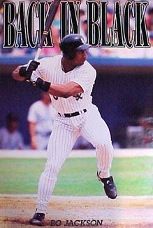 """""""Back in Black"""" with Bo Jackson - Costacos Brothers Baseball Posters, Baseball Photos, Sports Posters, Avery Brooks, Sports Highlights, Bo Jackson, Gym Decor, World Of Sports, Chicago White Sox"""