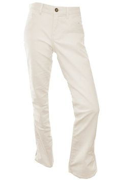 Calvin Klein Womens Corduroy Pants Powerstretch Straight Leg Slim Fit Ivory NEW