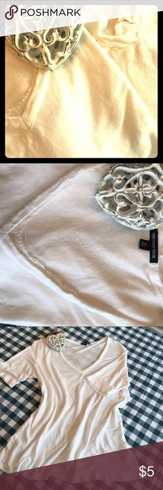 Two Sz. 18/XL Casual/Feminine Cream Tops Bundle of 2 cream-colored tops. Casual wear, yet with a pretty feminine flair. Though labeled sizes are XL and 2X Petite, they fit me just fine and I'm an 18. My closet is overflowing and I rarely wear these, so am offering them to you. WhoWhatWear has a touch of lace inside V-neck, while Talbots has a pleated ruffle around V-neck. There is a tiny hole in back of Talbots (see last photo). Not something I'd wear to work unless under something else, but…