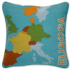 Europa Needlepoint Pillow