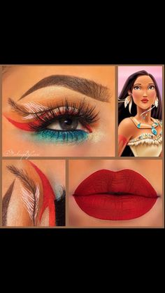 Pocahontas makeup                                                       …                                                                                                                                                                                 Más