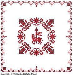 Weihkorbdecken Zählvorlage - Weihkorbdecken - Themen Embroidery Designs, Origami, Diy And Crafts, Cross Stitch, Miniatures, Ornaments, Crochet Doilies, Roots, Cross Stitch Embroidery