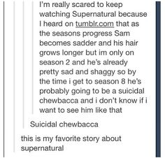 Suicidal Chewbaca, not sure if that's too far off actually