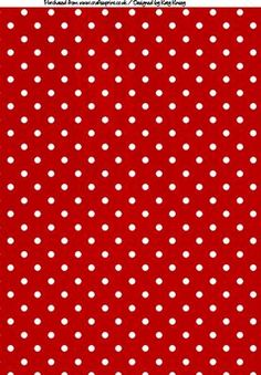 Polka Dots A4 Backing Paper in Red and White on Craftsuprint designed by Katy Kinsey - Bright and cheerful polka dots for your creations - Now available for download!