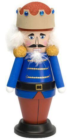 DecoArt® Crowned Nutcracker #claypot #craft #christmas