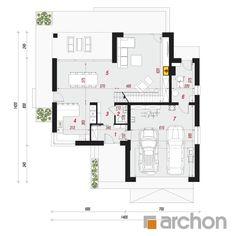 Projekt domu Willa Miranda 4 (G2) - ARCHON+ Floor Plans, Home, Floor Plan Drawing, House Floor Plans