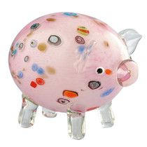 Features:  -Material: Handblown glass.  -Color: Pink.  -Contemporary style.  Product Type: -Figurine.  Style: -Contemporary.  Theme: -Animal.  Subject: -Home decor and furniture.  Finish: -Pink.  Hand