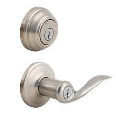 Kwikset Signatures Tustin Lever SmartKey Single Cylinder Combo Pack in Satin Nickel Finish #991TNL15SMTCPK4 - Door Levers - Amazon.com
