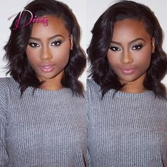 104.50$  Watch now - http://aliern.worldwells.pw/go.php?t=32664625114 - New Arrival Short Bob Style Lace Front Wigs with Baby Hair Virgin Brazilian Human Hair Full Lace Wig for Black Women 104.50$
