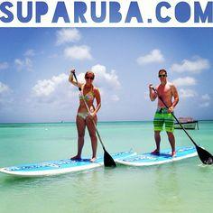 Kayleigh & CJ from Colorado, loving their Aruba honeymoon!