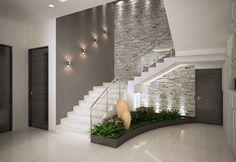 Inspire-se nestas fantásticas escadas para construir a sua!Corredores e halls de entrada por ACE INTERIORS Interior Design Your Home, Home Stairs Design, Modern House Design, Interior Ideas, Brick Interior, Stair Design, Hall Interior, Modern Stairs Design, Modern House Facades