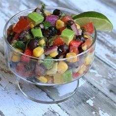 Black Bean Avocado Salsa | The key to this salsa is a liberal dose of lime juice at the end to tie it all together.