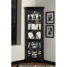 With our Marlene Corner Display Cabinets, you can enjoy built-in ...