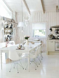 Scandinavian-style-white-country-dining-table-white-floor