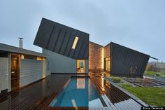 This Zero-Emission Home Creates Enough Energy To Power An Electric Car For One Year  This just might just be the most beautiful zero-emission home we have ever laid eyes on. Snøhetta, a design firm in Norway, has created the ZEB Multi-Comfort House in Ringdalskogen, Larvik, Norway