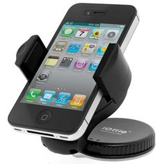 iOttie Windshield Dashboard Car Mount Holder for iPhone 4S 4 3GS Samsung Galaxy S3 S2 Epic Touch 4G HTC One X EVO 4G Rhyme DROID RAZR BIONIC INCREDIBLE 2 CHARGE Google BlackBerry Torch LG Revolution GPS Compact Size 360 degree Rotatable
