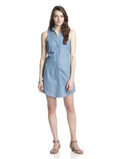 JB by Julie Brown Women's Bethanie Sleeveless Shirt Dress (Light Chambray)