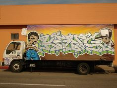 cool King157 TDK TMF Oakland Graffiti Truck Art