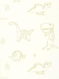 Buy Harlequin Wallpaper, Jolly Jurassic 70524, Green online at JohnLewis.com - John Lewis