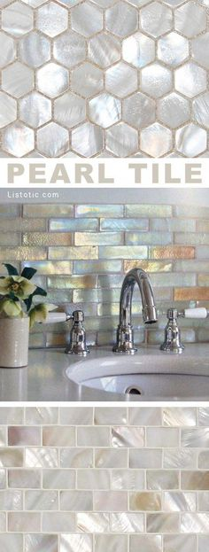 Ideas bathroom tub tile surround kitchen backsplash for 2019 Bath Tiles, Room Tiles, Bathroom Floor Tiles, Kitchen Tiles, Diy Tiles, Mosaic Bathroom, Kitchen Backsplash Diy, Vanity Backsplash, Bathtub Tile