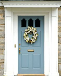 Front Door Paint Colors - Want a quick makeover? Paint your front door a different color. Here a pretty front door color ideas to improve your home's curb appeal and add more style! Best Front Door Colors, Best Front Doors, Front Door Paint Colors, Exterior Paint Colors For House, Painted Front Doors, Paint Colors For Home, Paint Colours, Siding Colors, Colored Front Doors