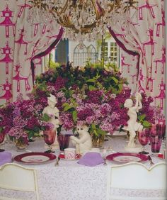 Fuchsia tabletop - The Peak of Chic®: Michael Devine and An Invitation to the Garden