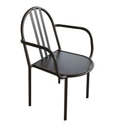 Mallet-Stevens - Chaise avec accoudoir en métal - Habitat