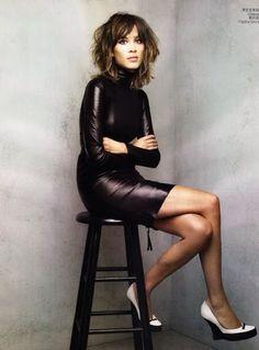 Alexa wearing leather @thebellespot