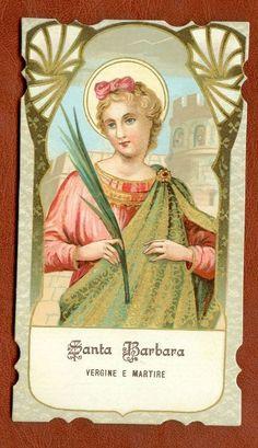Holy Card Santino  Santa Barbara